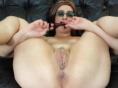 Panty stuffing my meaty pussy