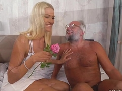 Chary Kiss added to her a much older lover - Grandpas Fuck Infancy