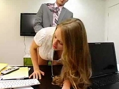 Secretary seducing boss unconnected with photocopying boobs and boss ?ass