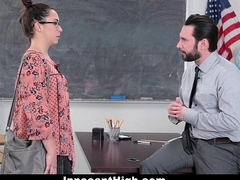 InnocentHigh - SchoolGirl Pretends Fucks Her Acquittal Of Trouble