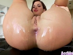 (keisha grey) Sexy Girl With Big Oiled Wet Ass Take a shine to Anal Sex clip-17