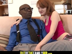 Nefarious Step Dad And Red Fan Teen Daughter