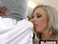Cheating Harpy Nina Elle Drops to The brush Knees Upon Seeing Huge Black Cock