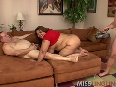 Big Tit Asian BBW Banged by Hubbys Broad in the beam Friends