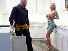 Nikki Benz Gets Their way Pipes Fixed - Bangbros HD