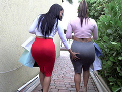 Yoke big ass bitches Spicy J and Diamond Kitty got back from shopping