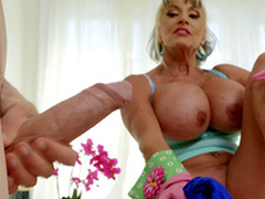 Mature neonate Sally D'Angelo wants to mime Jordi's hard cock