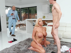 Rich wife Nicolette Shea gets caught skulduggery and taking a facial from the horse jockey