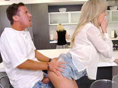 Mom does not placard son fucking her friend Brandi Love