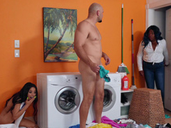 Maya Bijou almost gets caught by her sister after fucking her boyfriend
