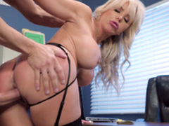 Nina Elle - The boss' Naughty wife gets a load of jizz served in their way cunt