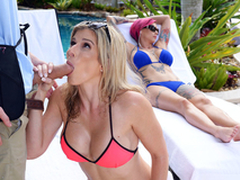 Naked Milfs On Vacation: Cory Chase In transmitted to porn scene