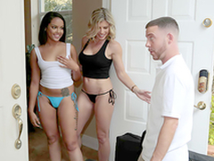 Double Rub Down - Scanty mom Cory Chase In the porn scene