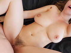 Stunning Lena Paul gets her pussy fucked while her tits bounce