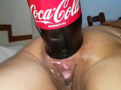 XXXL Anal cola bottle going to bed destruction