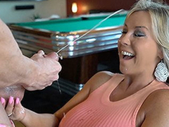 Hot Wife Sucks Lacking A Guest Cock Gets Cum Splashed