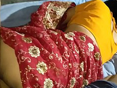 Indian lalita Singh  merely married fucked in saree