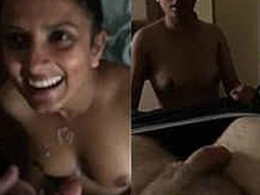 superhot paki babe sucking BF and gets cummed