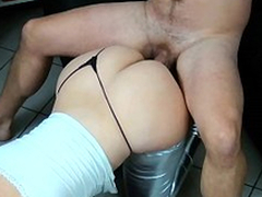 Bootylicious mom and boyfriend like XXX position called doggy style