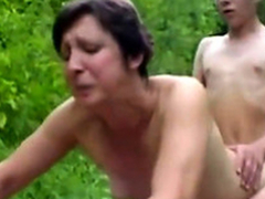 Forest XXX Sex Fuckers 1 - Old Woman & Young Boy - Sex Scene
