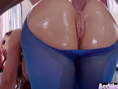 Big Ass Wet Oiled Woman (Nikki Benz) Get Nailed Deep In Her Behind clip-25