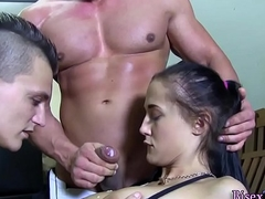 Bicurious dude barebacks