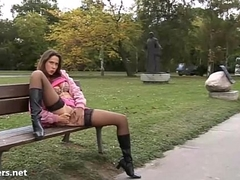 Debbies bring in b induce masturbation and outdoor amateur babes satirize and self finger